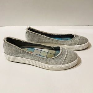 Rocket Dog 6 distressed fabric slip on flats